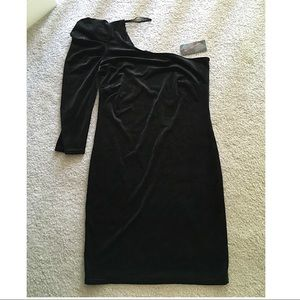 Urban Behavior | One Shoulder Velvet Dress (NWT)